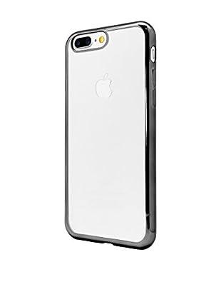 UNOTEC Hülle Tpu Gel iPhone 7 Plus Color Frame schwarz