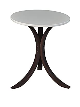 Niche Mia End Table, Mocha Walnut/Beige
