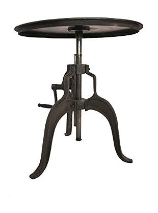 CDI Furniture Adjustable Height Crank Dining Table/Bar, Raw Metal
