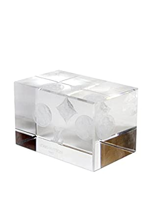 Louis Vuitton Vintage Rare Monogram Crystal Paperweight, Clear