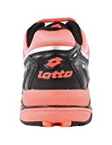 LOTTO Women`s Raptor Ultra IV Tennis Shoes Black and Fluo Carrot*
