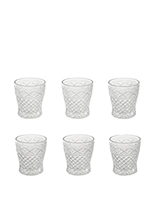 VILLA D'ESTE HOME Glas 6er Set Crystal transparent