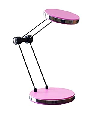 LED Foldable Desk Lamp with USB, Pink