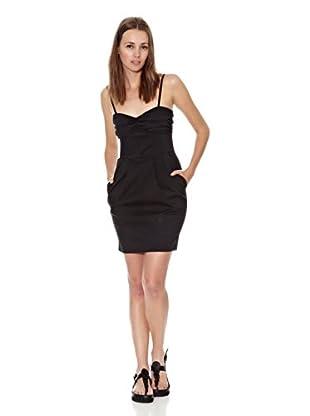 Mango Vestido Lacito (Negro)