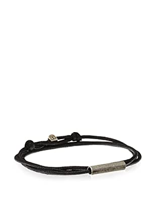 Griffin Black Oxidized Silver Easton Convertible Triple Wrap Bracelet
