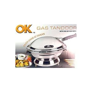OK Aluminium Gas Tandoor Oven with Bar-Be-Que Rods