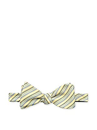 Bruno Piattelli Men's Striped Bow Tie, Gold