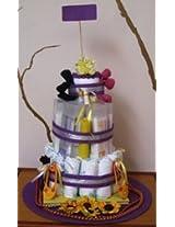 Cute Jute Diaper Cake