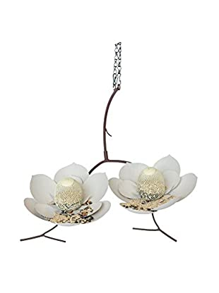 Desert Steel Magnolia Double Bird Feeder