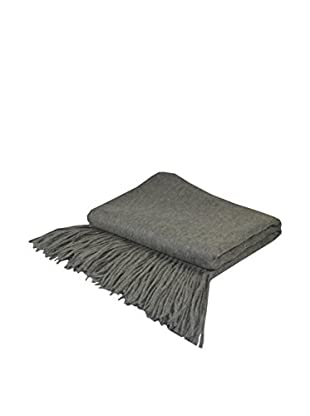 PÜR Cashmere Signature Blend Throw, Heather Grey