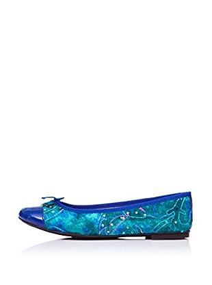 Bisue Bailarinas Lazo (Verde / Azul)