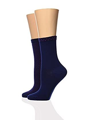 Dim 2tlg. Set Socken Cotton Style Plumetis