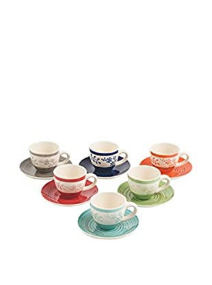 Galileo Set Taza De Café con Plato 6 Uds. Margot