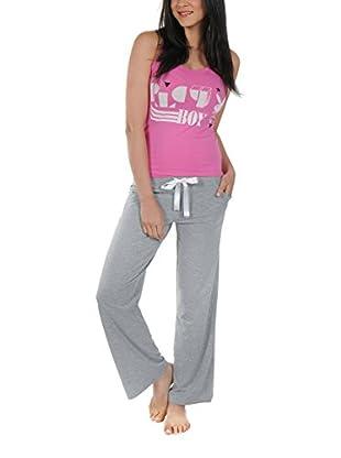 Play Boy Nightwear Pyjama Cubistic Plby