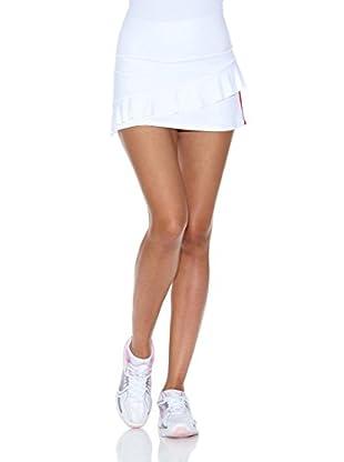 Naffta Falda Short Tenis / Padel (Blanco / Rojo)