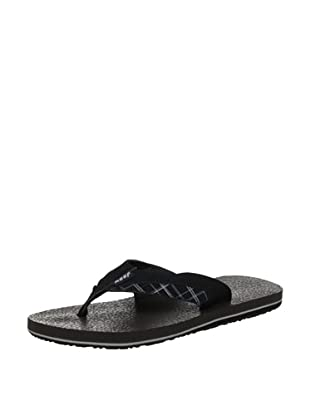 Reef Chanclas Cushion Prints (Negro)