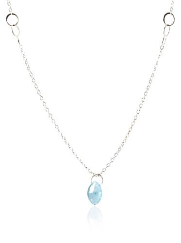 Melissa Joy Manning Aquamarine Pendant Necklace
