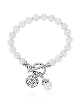 Pearly Armband Modern silber/transparent/perlmutt