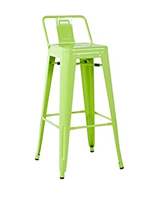 LO+DEMODA Barhocker 2er Set Metal Ural Square Verde