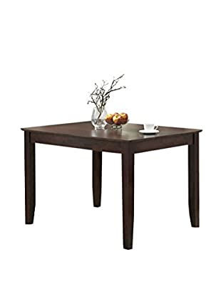 Walker Edison Wood Dining Table, Espresso