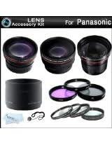 58mm Fisheye All In Lens Kit For Panasonic Lumix DMC-FZ60, DMC-FZ60K Digital Camera Includes Lens Adapter 0.21x Super Wide Angle Fisheye lens HD .43x Wide Angle Lens 2.2x Telephoto Lens 3 PC Filter Kit (UV, CPL, FLD) Close Up Kit 1 2 4 10