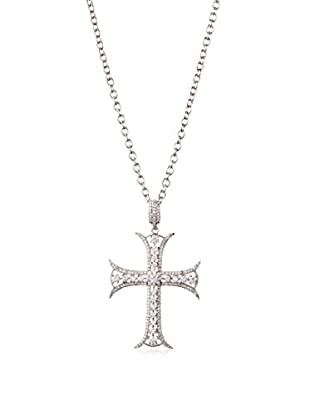 CZ by Kenneth Jay Lane CZ Cross Chain Necklace