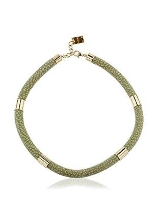 Borbonese Collar Verde Claro / Dorado