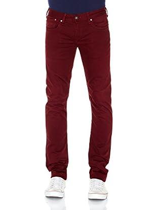 Pepe Jeans London Pantalón Hatch (Burdeos)