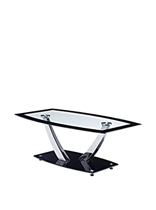 Luxury Home Glass Coffee Table, Black