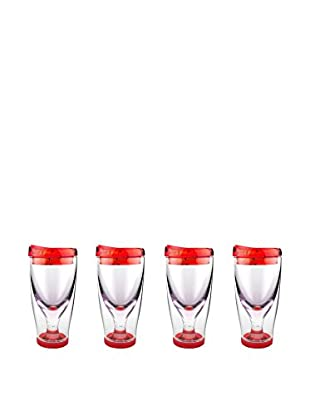 AdNArt Set Of 4 To-Go Iced Vinos (Red)