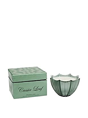 D.L. & Co. Ribbed Glass 8-Oz. Scallop Candle, Cassia Leaf