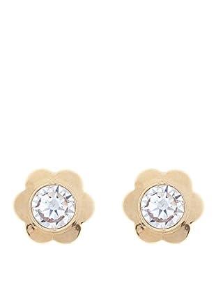 Gold & Diamonds Pendientes Flor Dorado
