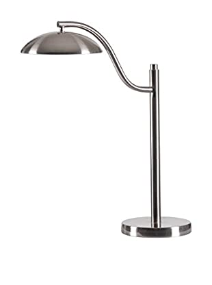Design Craft Crest Desk Lamp, Brushed Steel Finish