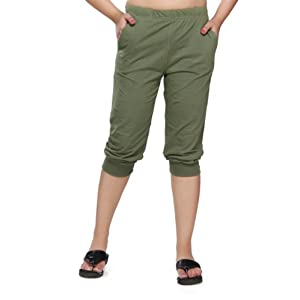 Clifton Womens Comfort Capri Olive Color