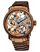 Akribos Manual Wind Skeleton Dial Rose Gold-Tone Stainless Steel Mens Watch Ak525Rg