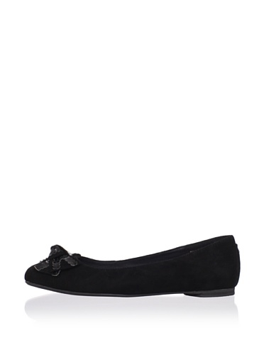 J. Loren Kid's Allina Dress Shoe (Black Suede/Patent)