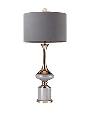 Artistic Lighting Fluted Neck Lamp, Grey/Gold