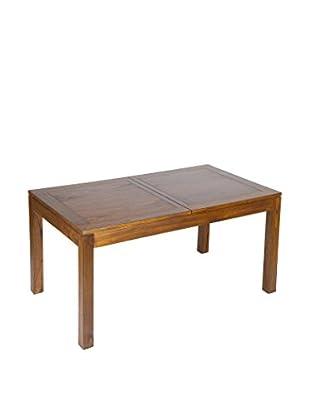 Colonial Style Ausziehbarer Tisch braun