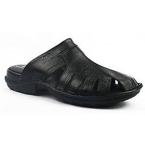 Hitz Black Men Slippers 9281