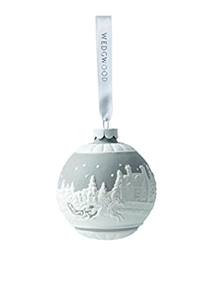 Wedgwood Sleigh Ride Ornament, Grey