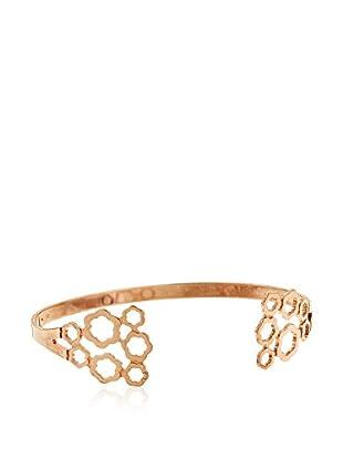 Córdoba Jewels Brazalete plata de ley 925 milésimas bañada en oro