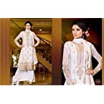 White Georgette Dress Material With Dupatta