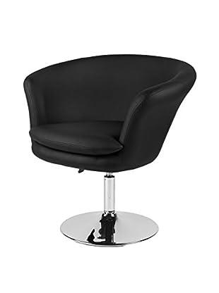Furniture Contempo Kristina Chair, Black/Chrome