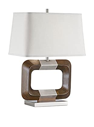 Nova Lighting Bangle Table Lamp, Walnut