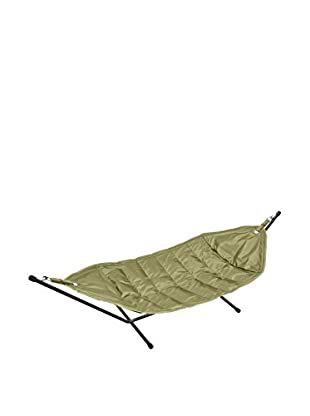 Famous Beanbag Maker Hammock With Stand, Black/Olive