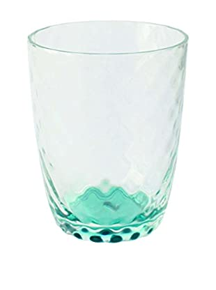 Textured Acrylic Double Old Fashioned Glass, Clear/Green