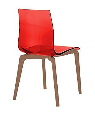 Domitalia Gel Chair, Transparent Red