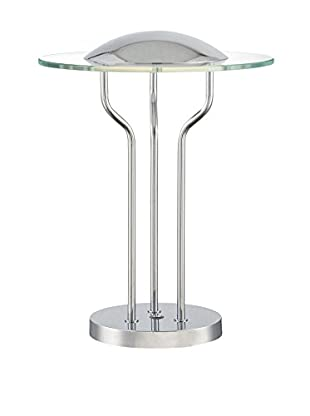 Lite Source Domani LED Table Lamp, Chrome/Clear