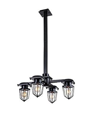 Urban Lights Kingston 4-Light Pendant Lamp, Black
