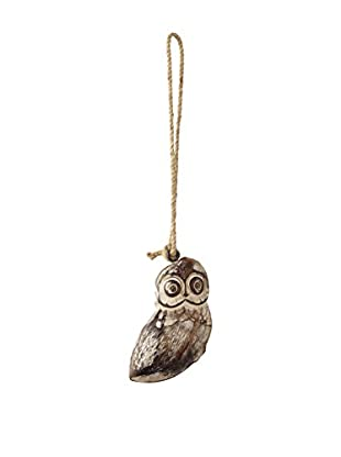 Sage & Co. Carved Wood Owl Ornament